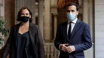 Colau i Garzón a l'Ajuntament de Barcelona